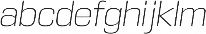DDT ExtraLight Italic otf (200) Font LOWERCASE