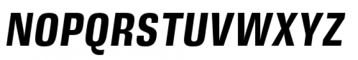 DDT Condensed Bold Italic Font UPPERCASE