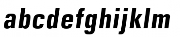DDT Condensed Bold Italic Font LOWERCASE