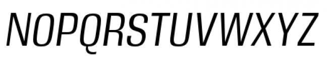 DDT Condensed Book Italic Font UPPERCASE