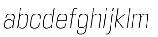 DDT Condensed Extra Light Italic Font LOWERCASE