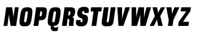 DDT Condensed Heavy Italic Font UPPERCASE