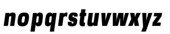 DDT Condensed Heavy Italic Font LOWERCASE