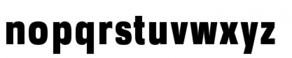 DDT Condensed Heavy Font LOWERCASE