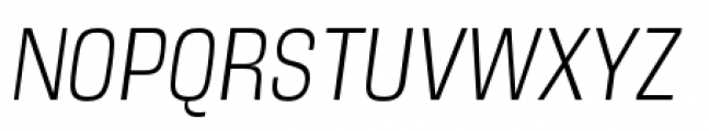 DDT Condensed Light Italic Font UPPERCASE