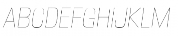 DDT Condensed Ultra Light Italic Font UPPERCASE