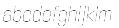 DDT Condensed Ultra Light Italic Font LOWERCASE