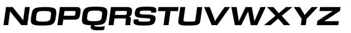 DDT Ext Heavy Italic Font UPPERCASE