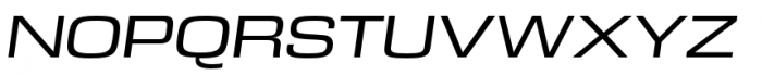 DDT Ext Regular Italic Font UPPERCASE
