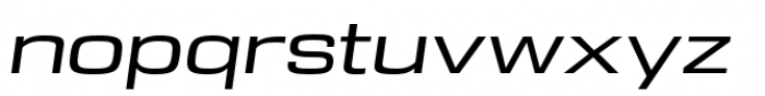 DDT Ext Regular Italic Font LOWERCASE