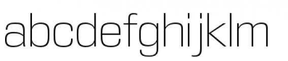 DDT Extra Light Font LOWERCASE
