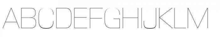 DDT Ultra Light Font UPPERCASE