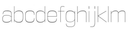 DDT Ultra Light Font LOWERCASE