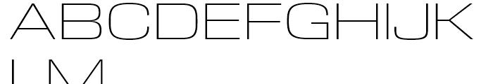 DDT Extended Extralight Font UPPERCASE
