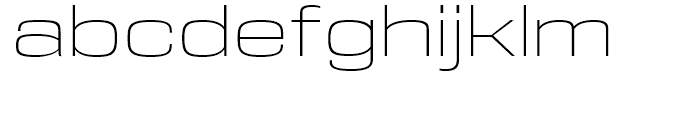 DDT Extended Extralight Font LOWERCASE