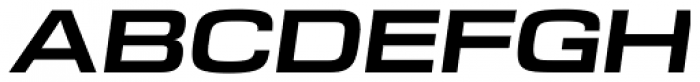 DDT Ext Bold Italic Font UPPERCASE