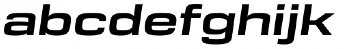 DDT Ext Bold Italic Font LOWERCASE