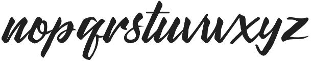 DeHangster otf (400) Font LOWERCASE