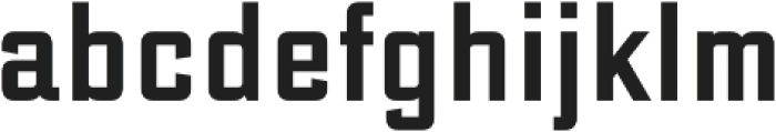 DeLuxe Gothic Condensed otf (400) Font LOWERCASE