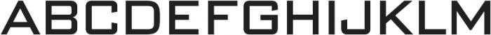 DeLuxe Gothic Regular otf (400) Font UPPERCASE