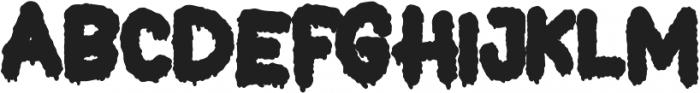 Dead Slime THREE otf (400) Font LOWERCASE
