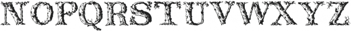 DeadWoodRustic Regular ttf (400) Font UPPERCASE