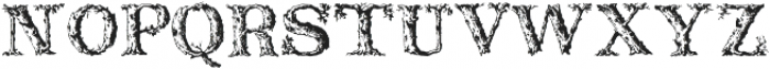 DeadWoodRustic Regular ttf (400) Font LOWERCASE
