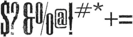Deadwood Gravel ttf (400) Font OTHER CHARS