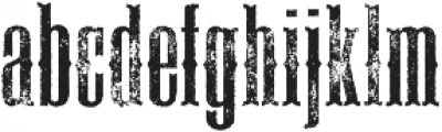 Deadwood Gravel ttf (400) Font LOWERCASE