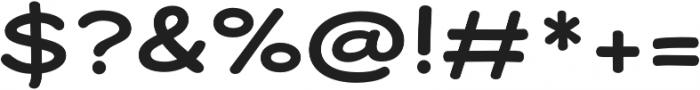 Dear Sans Expanded Bold otf (700) Font OTHER CHARS