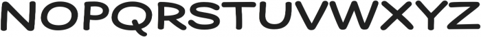 Dear Sans Expanded Bold otf (700) Font UPPERCASE