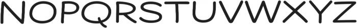 Dear Sans Expanded Book otf (400) Font UPPERCASE