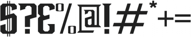 Debute Regular otf (400) Font OTHER CHARS