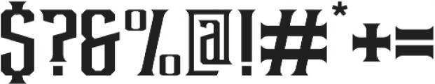 Debute Sharp Regular otf (400) Font OTHER CHARS