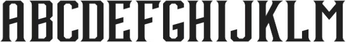 Debute Sharp Regular otf (400) Font UPPERCASE