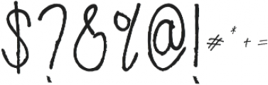 Decafe otf (400) Font OTHER CHARS