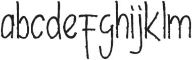 Decafe otf (400) Font LOWERCASE