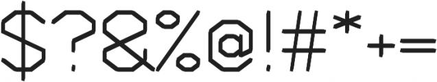 Deck regular otf (400) Font OTHER CHARS