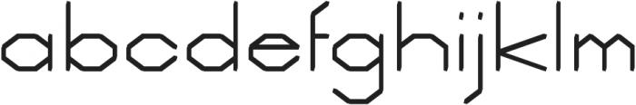 Deck regular otf (400) Font LOWERCASE