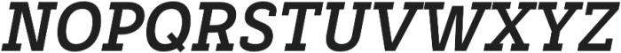 Decour Black Italic otf (900) Font UPPERCASE
