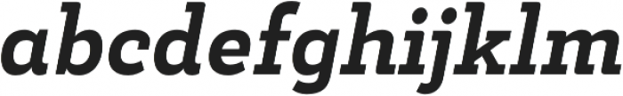 Decour Black Italic otf (900) Font LOWERCASE