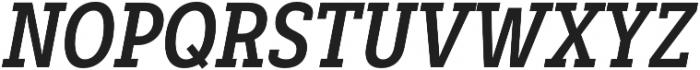 Decour Cnd Bold Italic otf (700) Font UPPERCASE