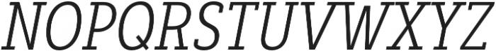Decour Cnd Light Italic otf (300) Font UPPERCASE