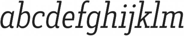Decour Cnd Light Italic otf (300) Font LOWERCASE