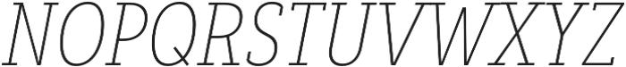 Decour Cnd Thin Italic otf (100) Font UPPERCASE