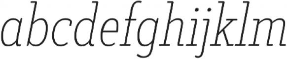 Decour Cnd Thin Italic otf (100) Font LOWERCASE
