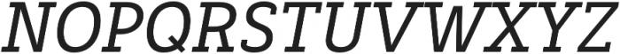 Decour Semibold Italic otf (600) Font UPPERCASE