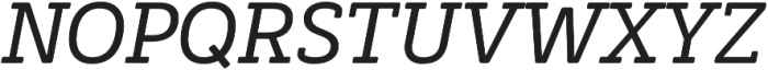 Decour Soft Semibold Italic otf (600) Font UPPERCASE
