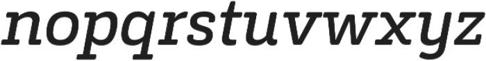 Decour Soft Semibold Italic otf (600) Font LOWERCASE