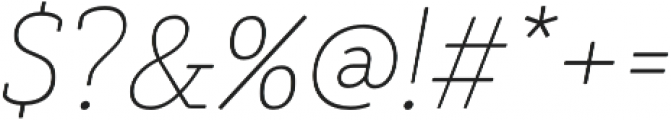 Decour Soft Thin Italic otf (100) Font OTHER CHARS